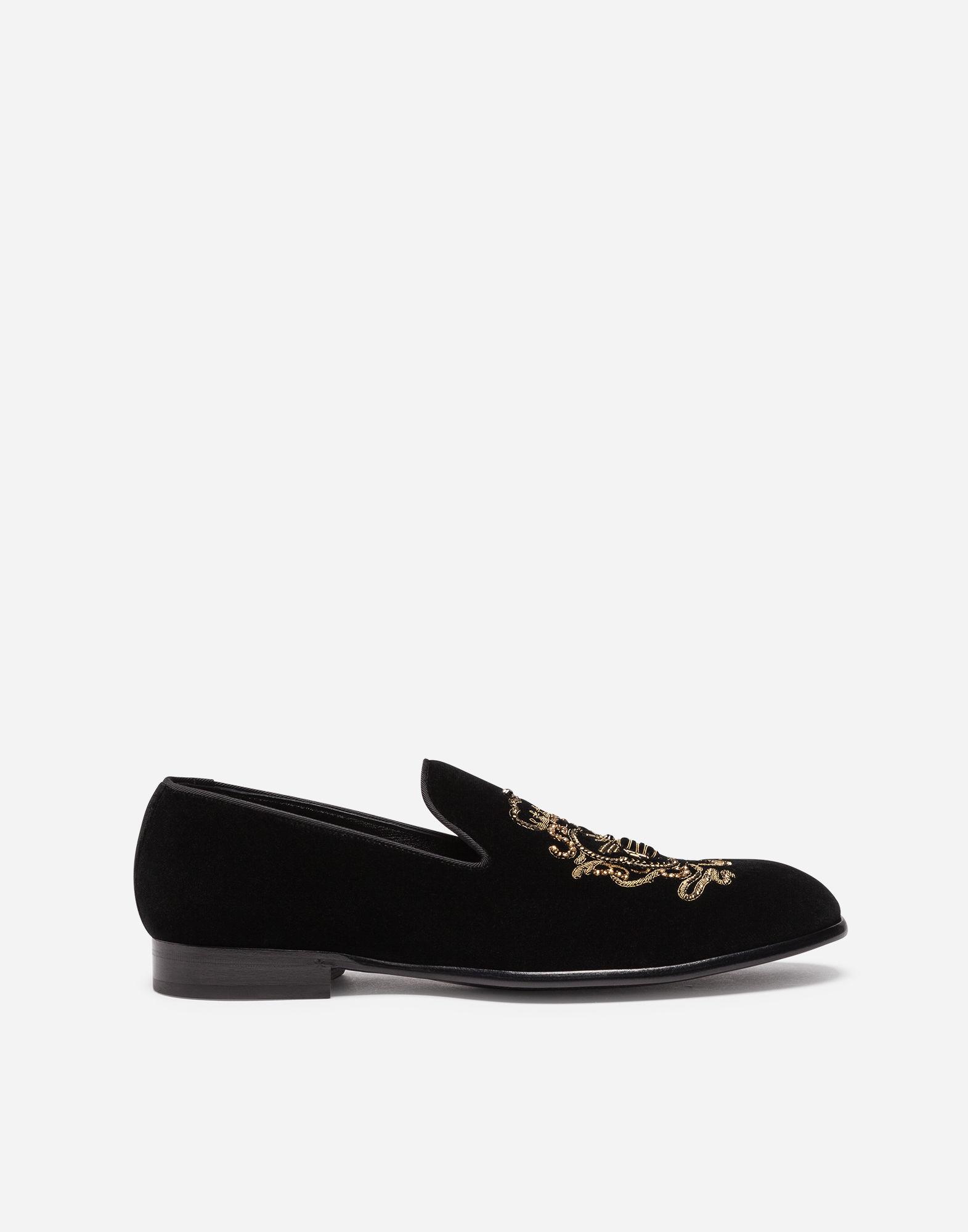 Dolce & GabbanaDolce & Gabbana Velvet Slip-On Loafers HqeESiB8qD
