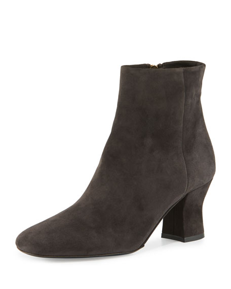 The Row Suedes BOWIN SUEDE ANKLE BOOT, PEWTER