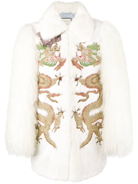 dragon embroidered coat