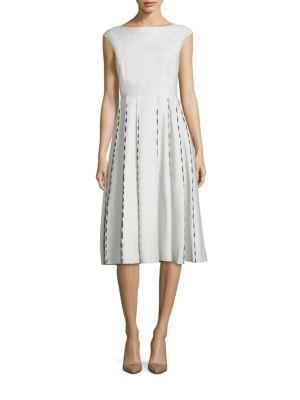 Bottega Veneta Linens Pleated Skirt Dress
