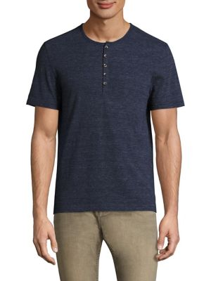 John Varvatos Cottons Short Sleeve Henley