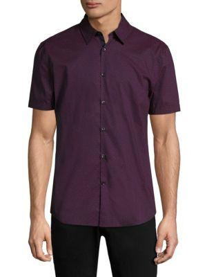 John Varvatos Cottons Short Sleeve Cotton Shirt