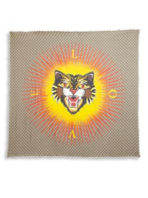 Gucci Scarves Angry Cat Scarf