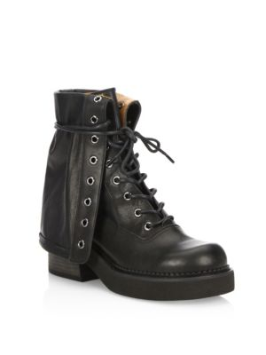 See by Chloe Katerina Foldover Combat Boot