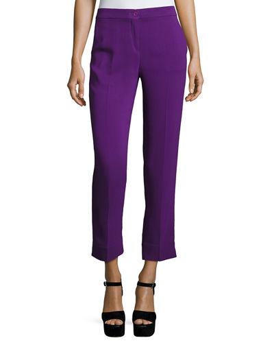Etro Pants FLAT-FRONT CADY CAPRI PANTS