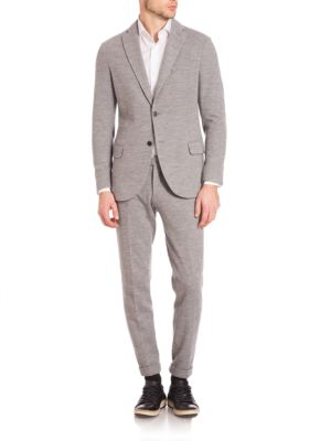 Eleventy Wools Modern-Fit Jersey Stretch Two-Button Suit