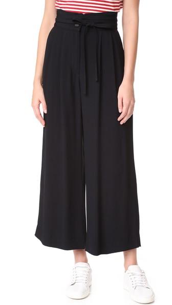 MARC JACOBS High-Waist Tie-Front Pants, Black