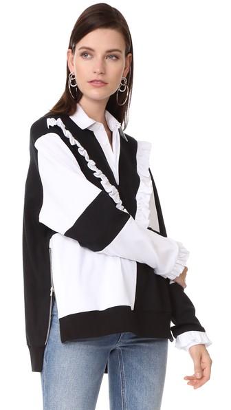 PREEN BY THORNTON BREGAZZI Brody Sweater in Black/White