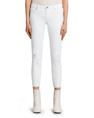 Allsaints Cottons Mast Distressed Ankle Jeans in White
