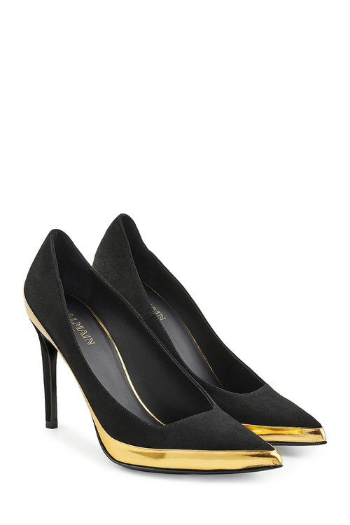 Balmain Leathers Suede and Leather Pumps