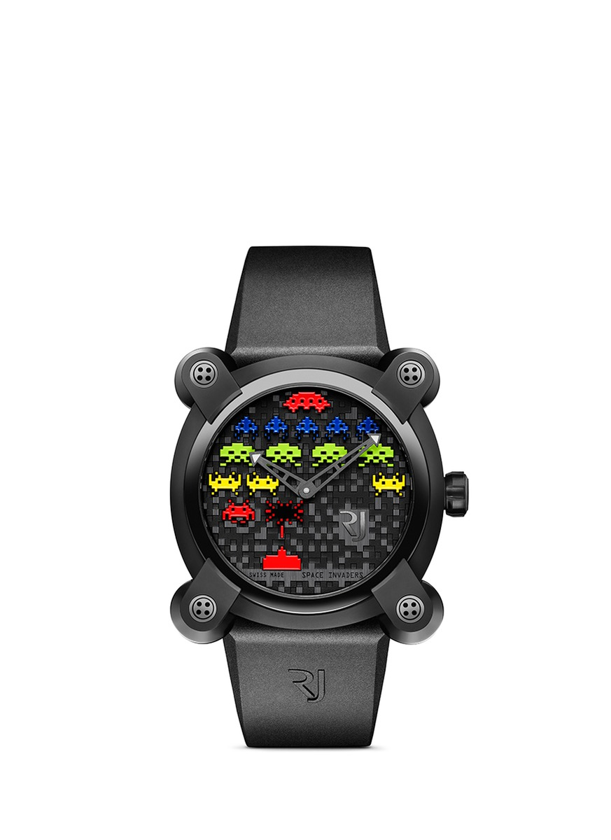 ROMAIN JEROME SPACE INVADERS® 40 Colours PVD coated steel watch