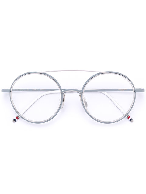 MATTE SILVER TITANIUM OPTICAL GLASSES WITH CLEAR LENS