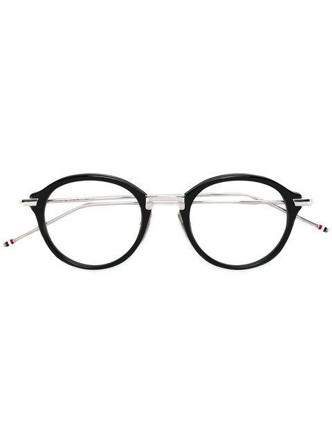 8eafc277dde Thom Browne Navy   Silver Optical Glasses In Blue