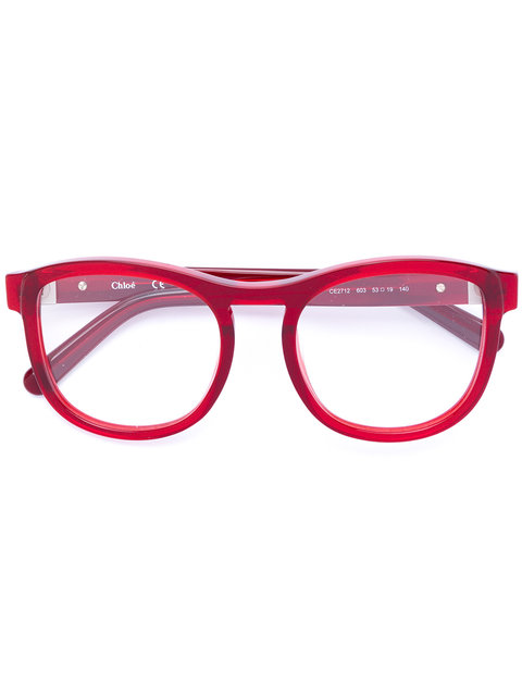 ChloÉ Eyewear Acetate Round Framed Glasses - Red | ModeSens