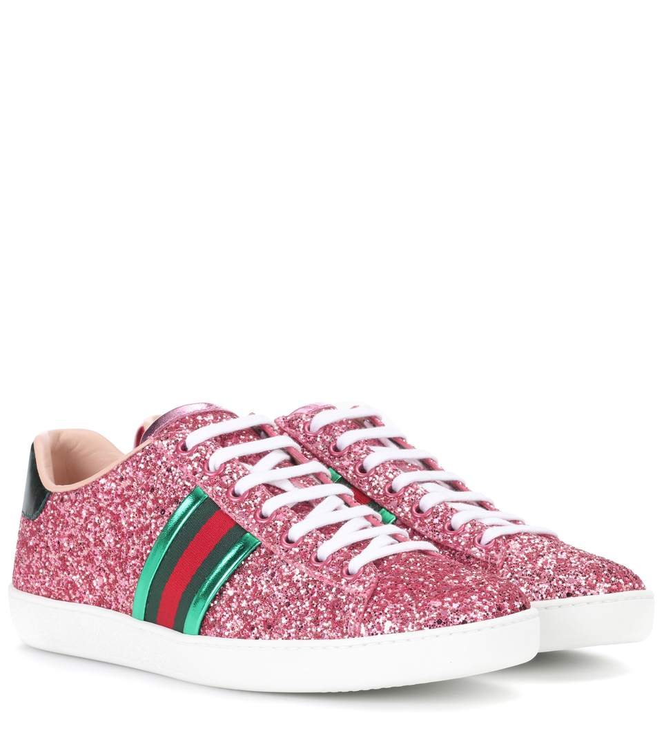 GLITTER NEW ACE SNEAKERS, PINK, IT 35
