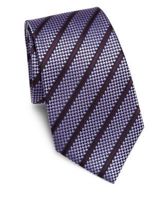 Ermenegildo Zegna Ties Diagonal Stripe Silk Tie