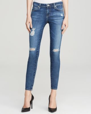 THE LEGGING DISTRESSED ANKLE JEANS, 11 YEARS SWAP MEET