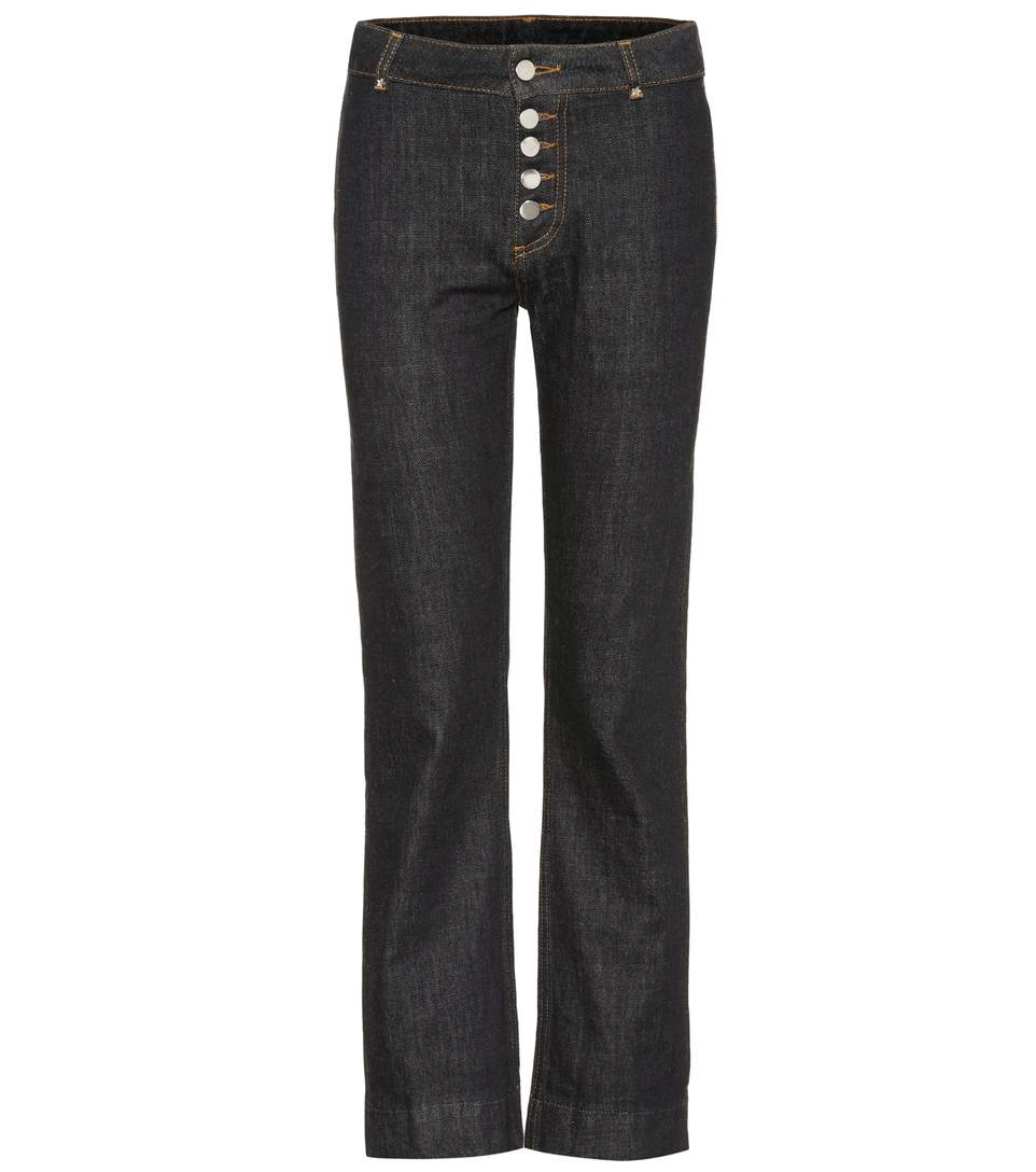 TOKYO HIGH-WAISTED CROPPED JEANS