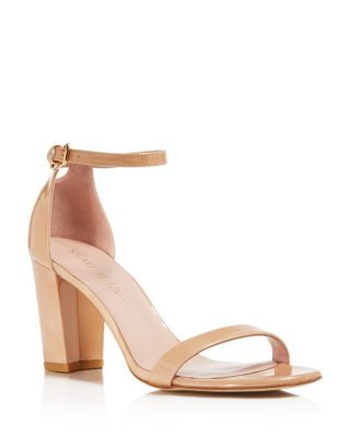 Nearlynude Nappa Leather Ankle Strap High Heel Sandals