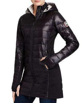 'Hybridge Lite' Slim Fit Hooded Packable Goose Down Coat