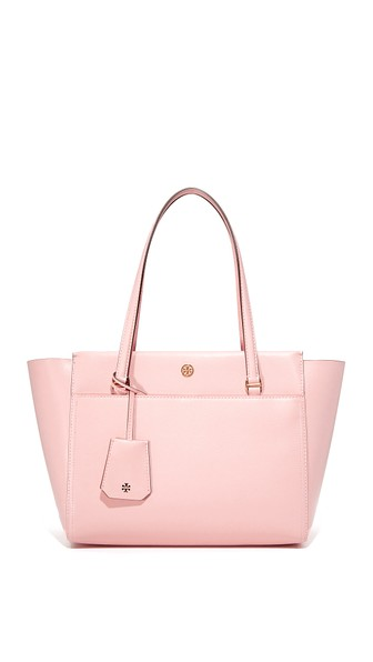 SMALL PARKER LEATHER TOTE - PINK