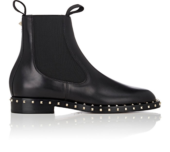 Valentino Leathers Soul Rockstud Leather Chelsea Boots