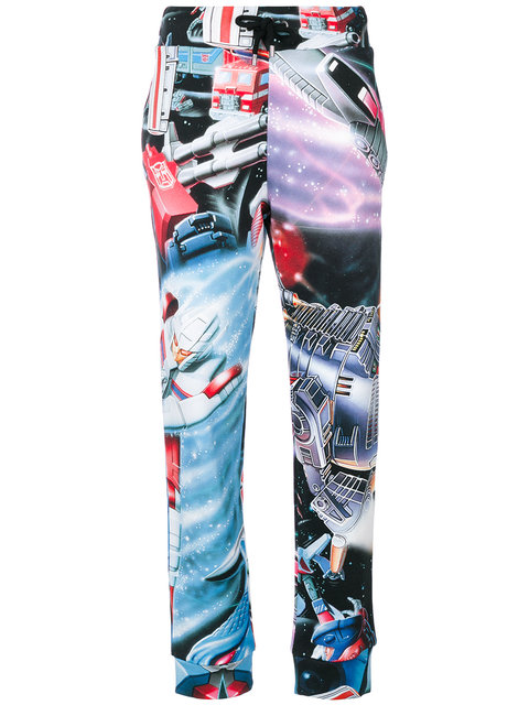 Transformers-Print Cotton-Jersey Track Pants