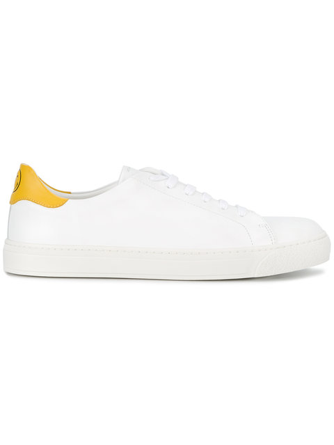 Anya Hindmarch  WHITE LEATHER WINK SNEAKERS