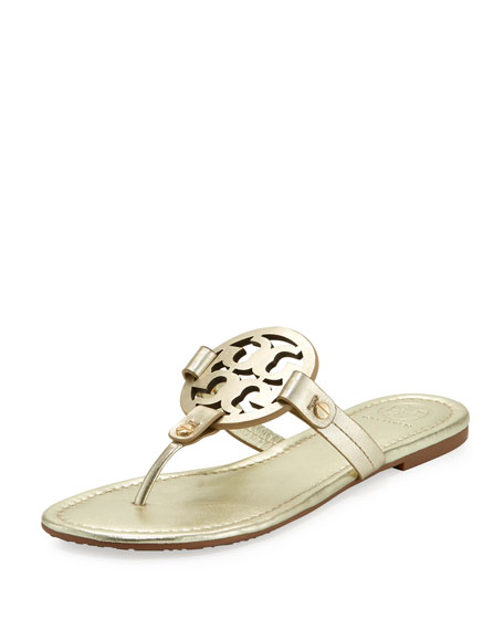 641f49bf1124 TORY BURCH WOMEN S MILLER LEATHER THONG SANDALS