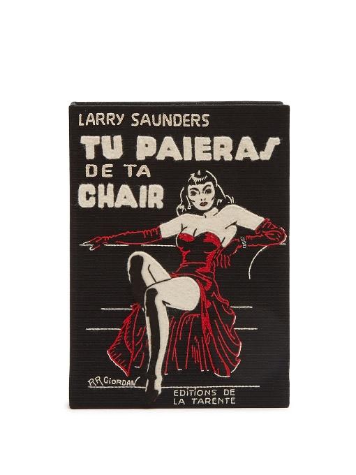 TU PAIERAS DE TA CHAIR BOOK CLUTCH
