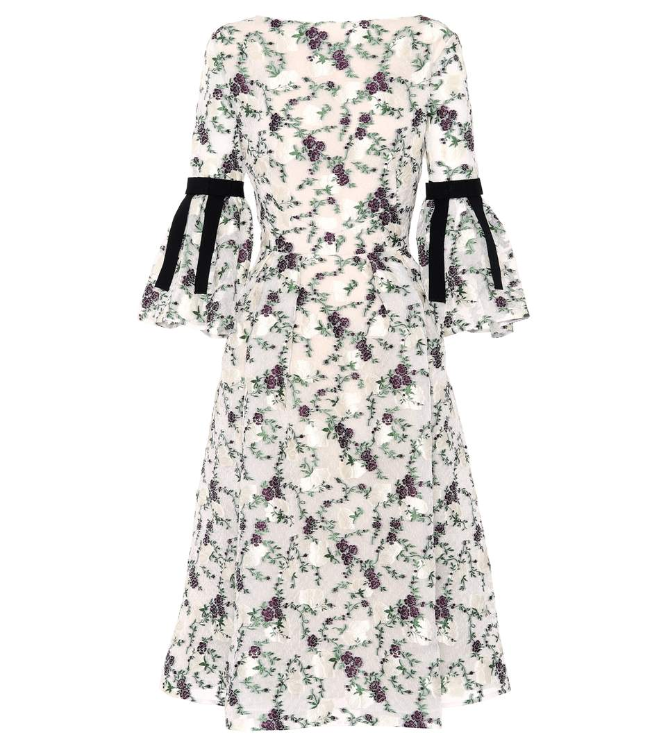 Erdem Aleena Dress In Greee Modesens