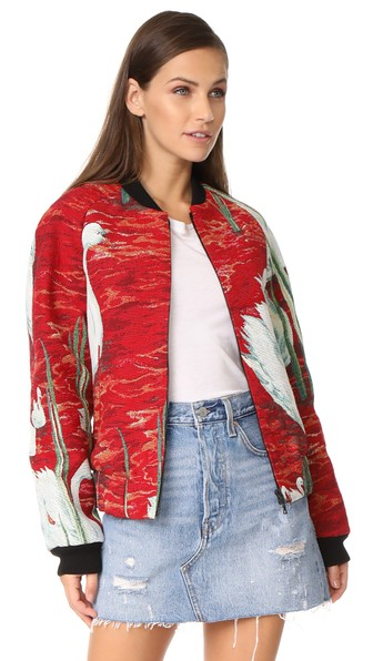 Raglan Bomber Jacket with Cotton