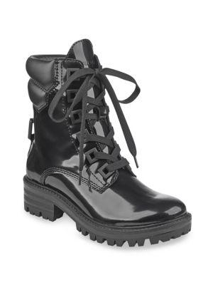 Official Site Sale Online KENDALL + KYLIE Kendall+kylie East Black Shiny Leather Combat Boots Wiki For Sale Buy Cheap Manchester Great Sale ELuwY3
