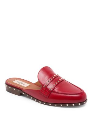 'Soul Rockstud' leather loafer mules