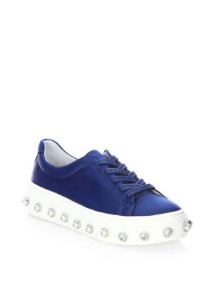 Schutz Lumara Satin Sneakers uIydjo52