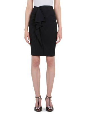 Ruffle-Front Pencil Skirt