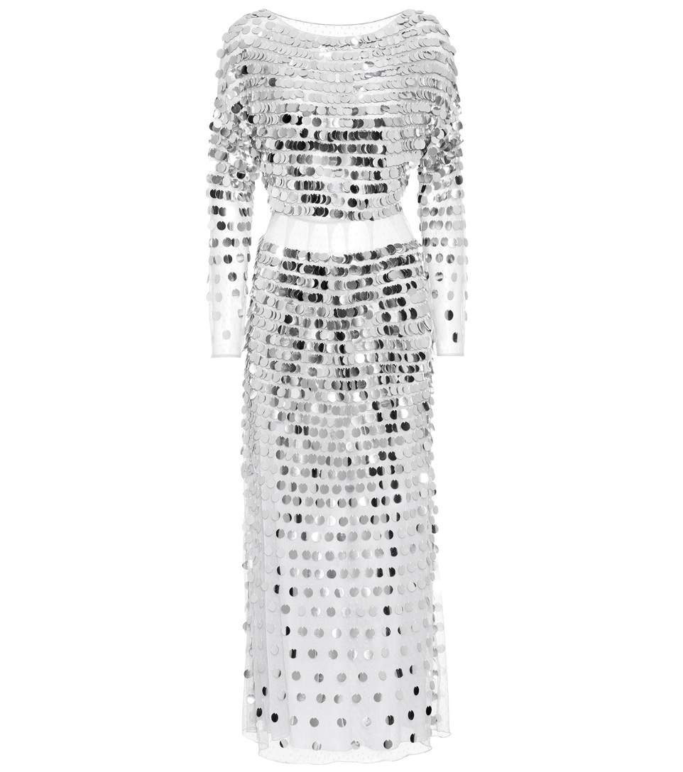 SEQUINNED LINEN DRESS