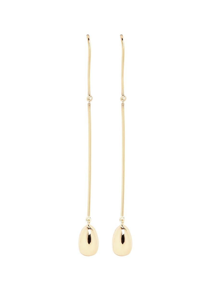 Elizabeth And James 'jana' Linear Wire Ball Stud Drop Earrings