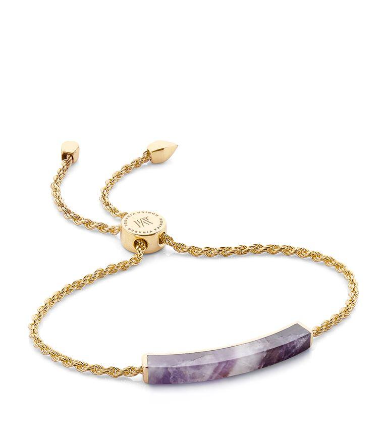 Monica Vinader Bracelets Linear Amethyst Chain Bracelet