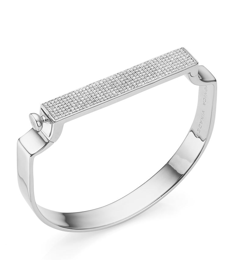 Monica Vinader Bracelets Signature Diamond Bangle