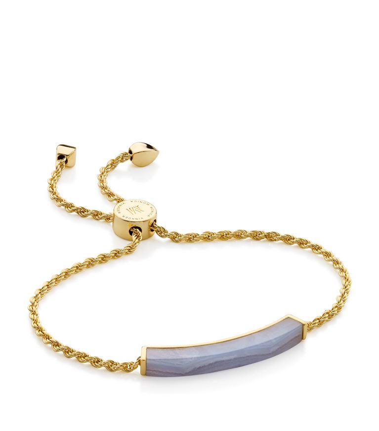 Monica Vinader Bracelets Linear Lace Agate Chain Bracelet