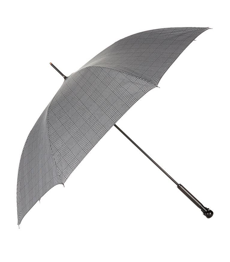 Alexander Mcqueen Umbrellas Prince Of Wales Skull Handle Umbrella