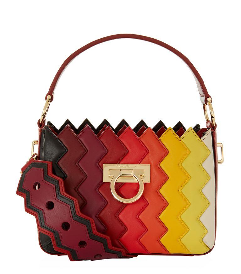 Salvatore Ferragamo Leathers Salome Zigzag Capsule Top Handle Bag