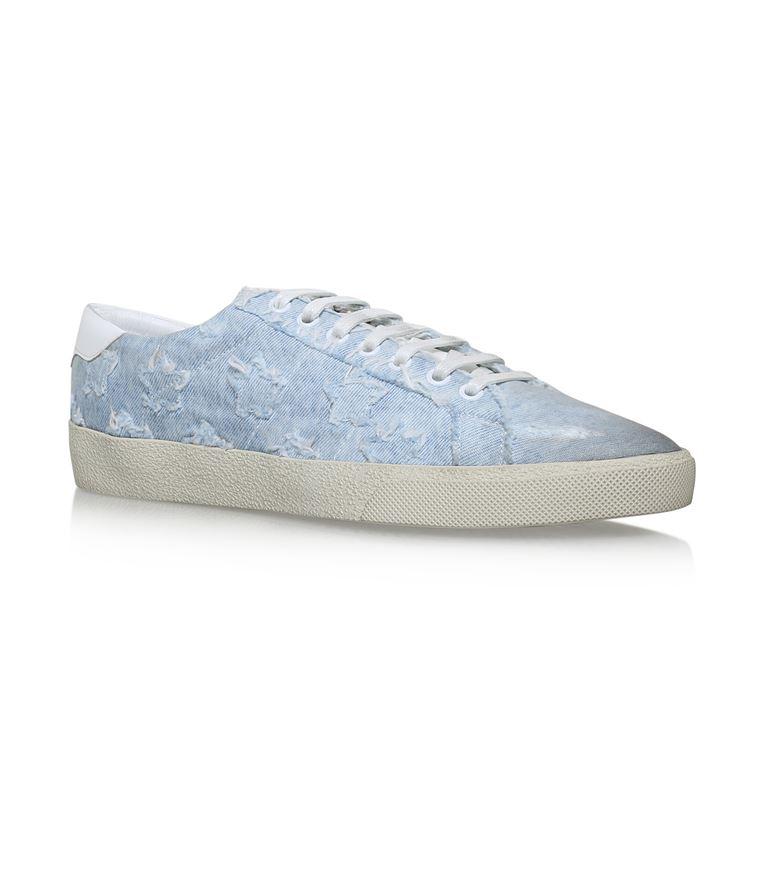 Saint Laurent Leathers Star Detail California Low Sneakers