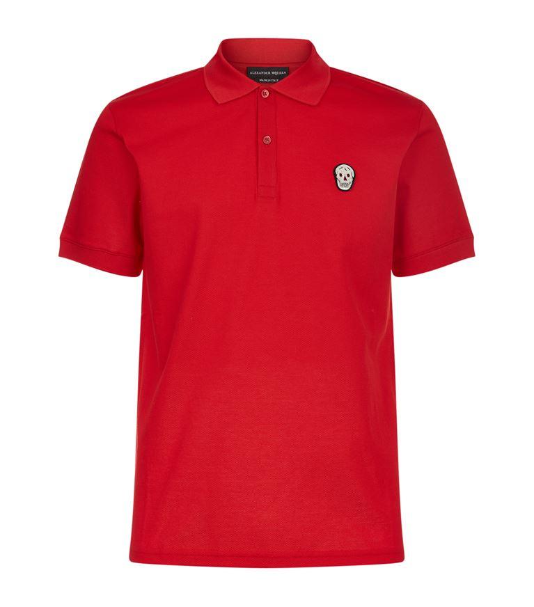 Alexander Mcqueen Shirts Skull Badge Polo Shirt