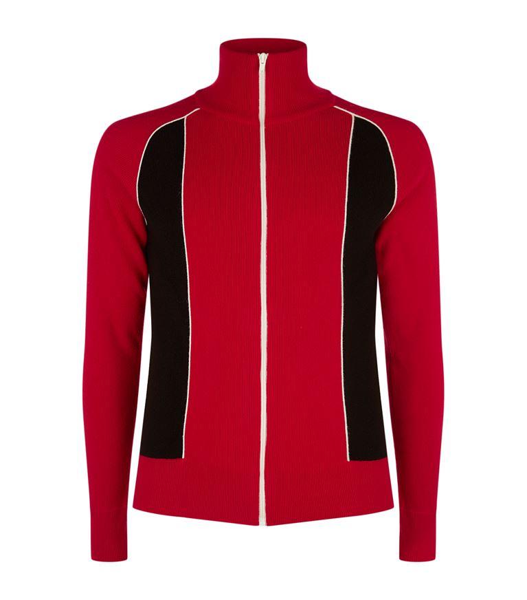 Valentino Wools Wool-Cashmere Zip-Up Sweater
