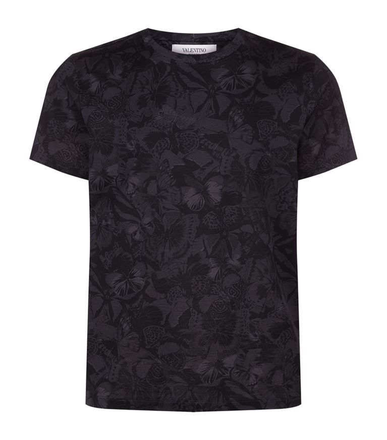 Valentino Cottons Butterfly Camo T-Shirt