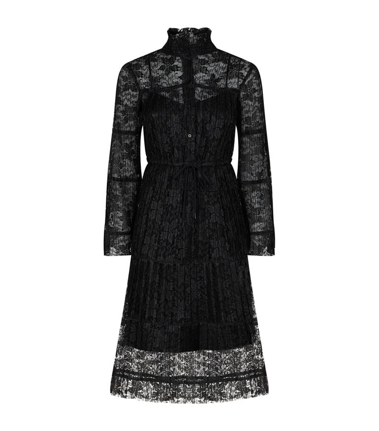 See By Chloé Dresses Pleated Lace Midi Dress