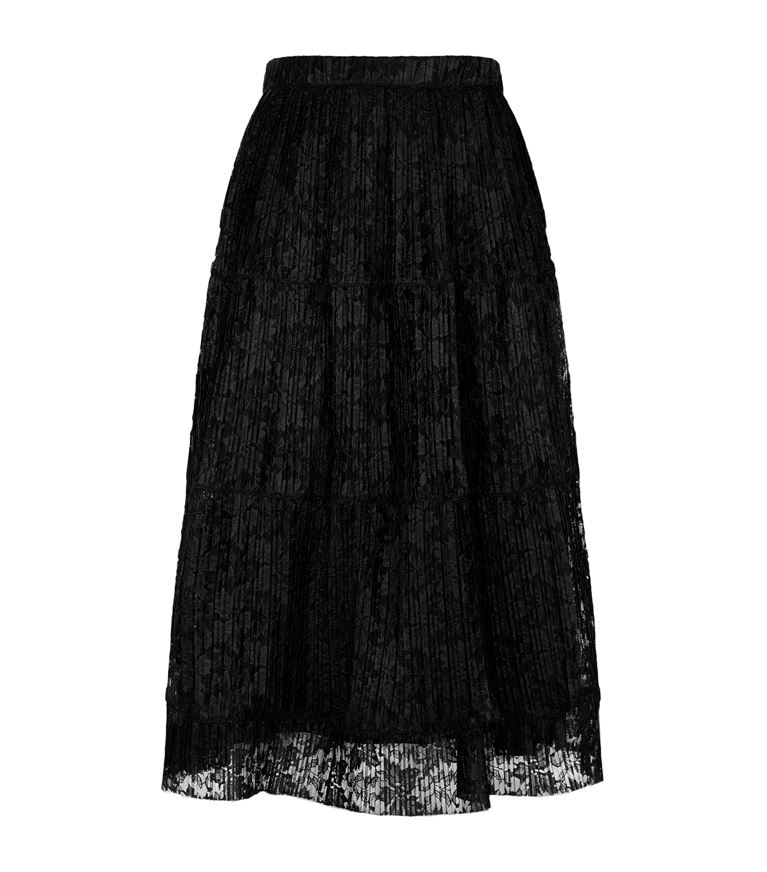 See By Chloé Clothing Pleated Lace Midi Skirt
