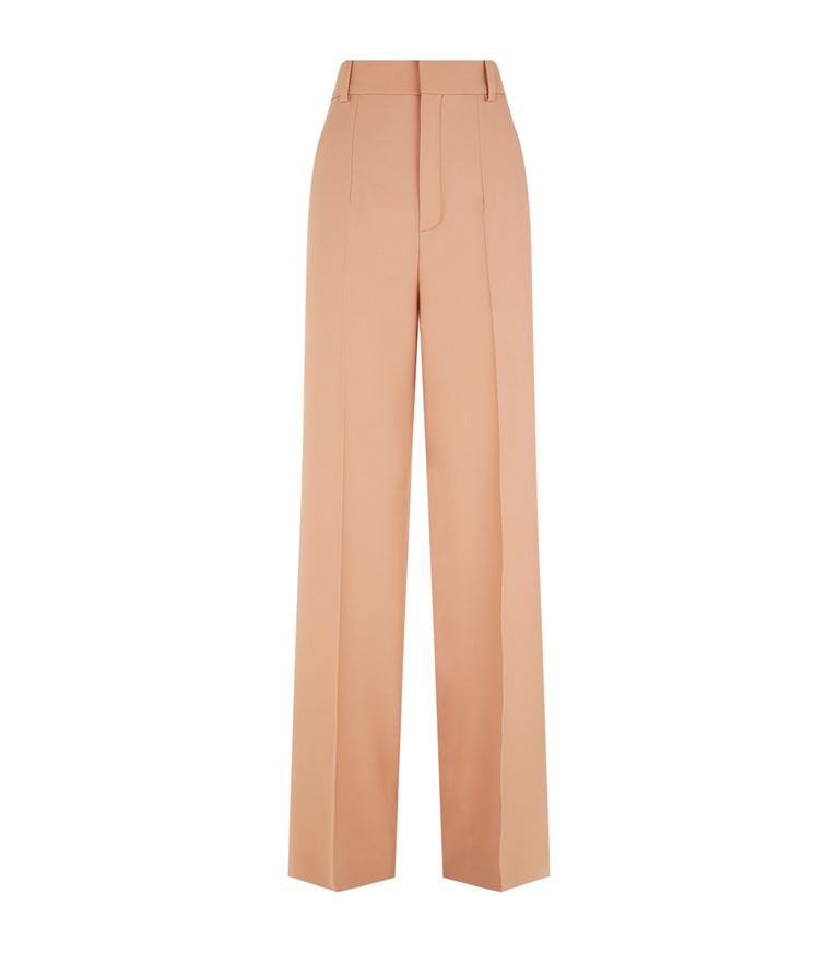Chloé Wools Stretch Wool Trousers